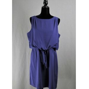 NWT | Daisy Fuentes | L | Blue Tie Waist Dress